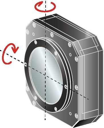 THK PRECISION回轉・傾角型滑台應用:反射鏡傾角調整