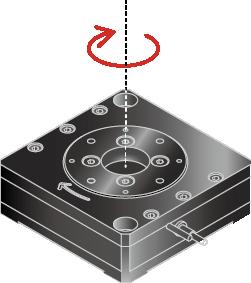 THK PRECISION回轉・傾角型滑台應用:微小角度調整