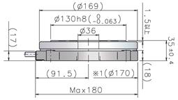 DD馬達PN2系列產品平面尺寸圖