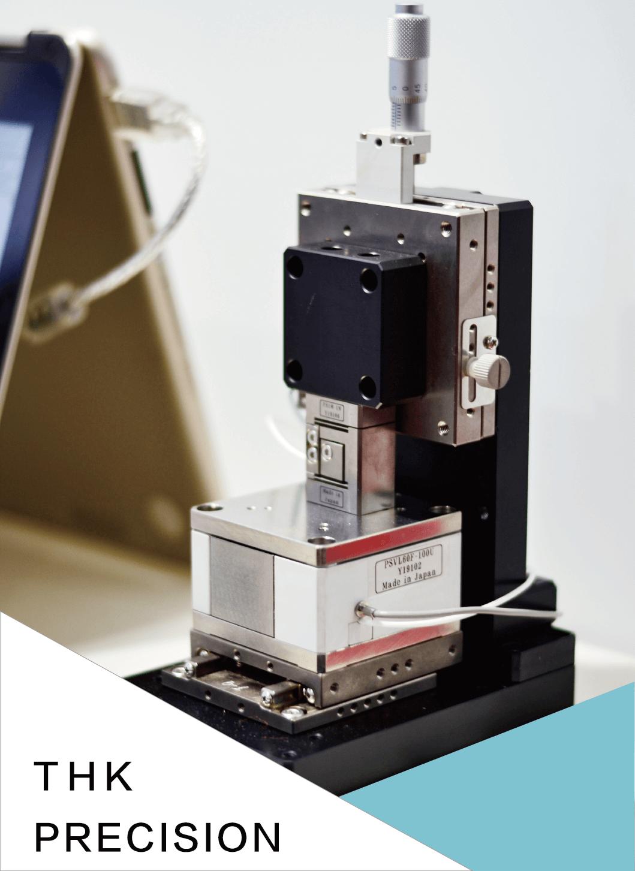 THK PRECISION微小力感測器與壓電滑台DEMO
