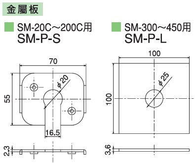 KURASHIKI 倉敷化工 _防震橡膠_彈簧式橡膠底座_產品介紹SM系列 選購配件 金屬板