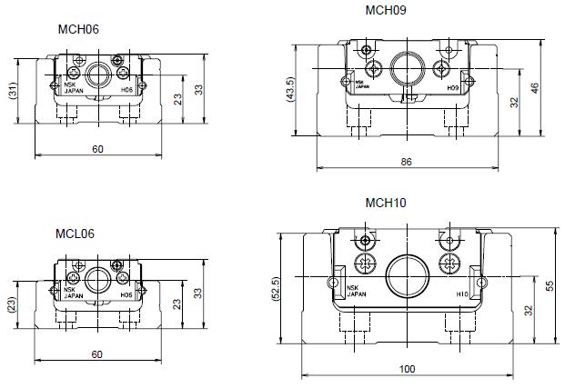 NSK 定位軸承滑台 MCH系列 本體精薄短小化
